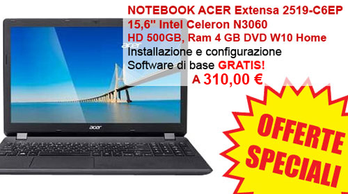 NOTEBOOK ACER IN OFFERTA!