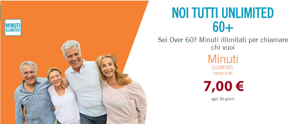 promo over 60 wind MINUTI ILLIMITATI VERSO TUTTI